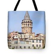 Galata Tower In Istanbul Tote Bag