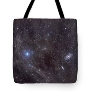 Galaxies M81 And M82 As Seen Tote Bag by John Davis