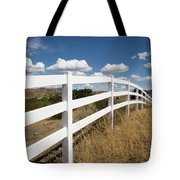 Galloping Fence Tote Bag