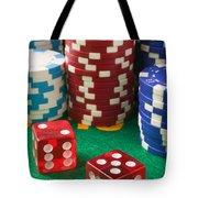 Gambling Dice Tote Bag