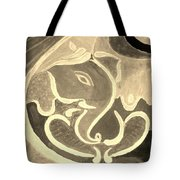 Ganesha In Sepia Hues Tote Bag