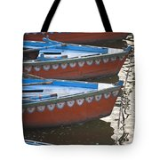 Ganges River, Varanasi, India Moored Tote Bag