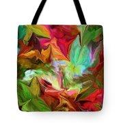 Garden Abstract 072312 Tote Bag