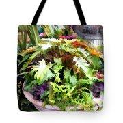 Garden Bowl Of Foliage Tote Bag