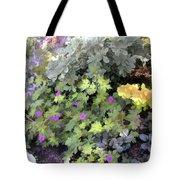 Garden Flower Border Tote Bag