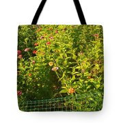 Garden Flowers Mixed Colors Tote Bag