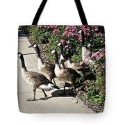 Garden Geese Parade Tote Bag