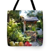 Garden Wishing Well Tote Bag