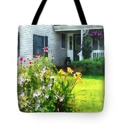 Garden With Coneflowers And Lilies Tote Bag