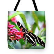 Garden Zebra Longwing Tote Bag