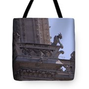 Gargoyles At Notre Dame Cathedral Tote Bag