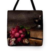 Garlic And Radishes Tote Bag