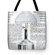 Gas Lamp Ad Tote Bag