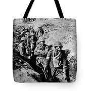 Gas Masks, World War I Tote Bag by Photo Researchers