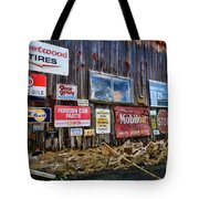 Gas Station Signs Tote Bag