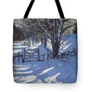 Gate Near Youlgreave Derbyshire Tote Bag