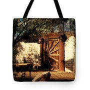 Gate To Cowboy Heaven In Old Tuscon Az Tote Bag