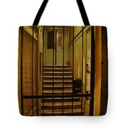 Gated Stairwell At Night Tote Bag