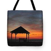 Gazebo At Sunset Seaside Park, Nj Tote Bag