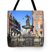 Gdansk Old City In Poland Tote Bag