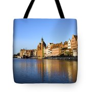 Gdansk Old Town And Motlawa River Tote Bag