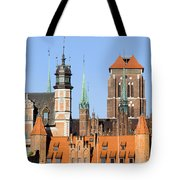 Gdansk Old Town In Poland Tote Bag