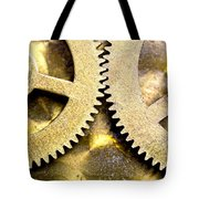 Gears From Inside A Wind-up Clock Tote Bag by John Short