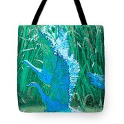 Geese At The River Tote Bag