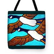 Geese In Flight Tote Bag