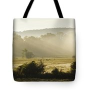 Geese Mist And Sun Tote Bag