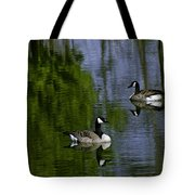 Geese On The Pond Tote Bag