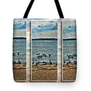 Geese Point Landing Triptych Tote Bag