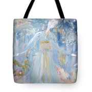 Geisha In The Rain Garden Tote Bag