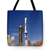 Gemini 12 Astronauts Lift Off Aboard Tote Bag