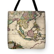 General Map Extending From India And Ceylon To Northwestern Australia By Way Of Southern Japan Tote Bag