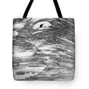 Gentle Giant In Negative Black And White Tote Bag