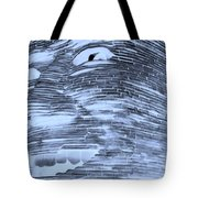 Gentle Giant In Negative Cyan Tote Bag