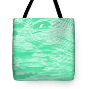 Gentle Giant In Negative Green Tote Bag