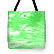 Gentle Giant In Negative Light Green Tote Bag