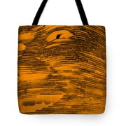 Gentle Giant In Negative Orange Tote Bag