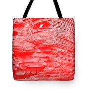 Gentle Giant In Negative Red Tote Bag