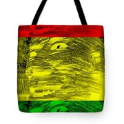 Gentle Giant In Negative Stop Light Colors Tote Bag