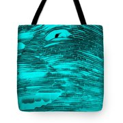 Gentle Giant In Negative Turquois Tote Bag
