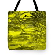 Gentle Giant In Negative Yellow Tote Bag