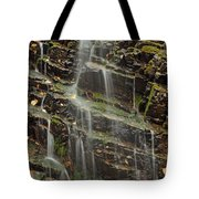 Gentle Waterfall In Glacier National Park Tote Bag