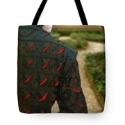 Gentleman In 16th Century Clothing On Garden Path Tote Bag