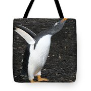 Gentoo Penguin With Something To Say Tote Bag