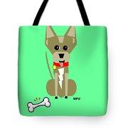 Geo Chihuahua Tote Bag