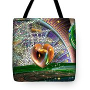 Geo Hearts Tote Bag