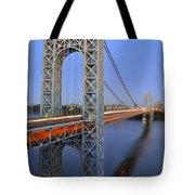 George Washington Bridge At Twilight Tote Bag
